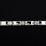 LIFETAG Medical ID Stainless & multi-colored CZ Bracelet with Slide LIFETAG, Stainless,  multi-colored, CZ, Bracelet, Slide
