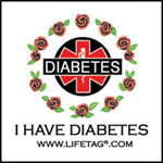 LIFETAG Temporary Diabetes Tattoo for Girls