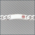 LIFETAG Medical ID Sterling Heavy Gents Curb Link Bracelet LIFETAG, Medical, ID, Sterling, Heavy, Gents, Curb, Link, Bracelet