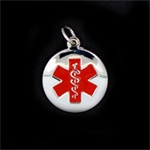 LIFETAG Oval Sterling Medical ID Charm LIFETAG, Oval, Medical ID, Charm