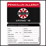 LIFETAG Medical ID Wallet Card LIFETAG, Medical ID, Wallet, Card