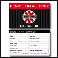 Lifetag Medical Id Wallet Card